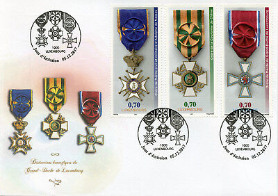 Luxembourg 2017 FDC 3 National Orders of Merit 3v Cover Emblems Medals Stamps