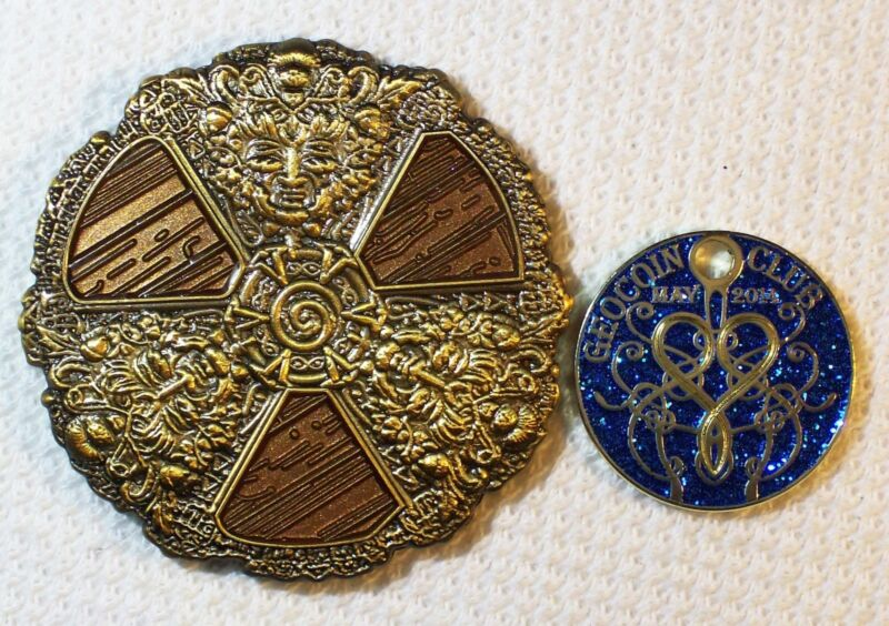 May 2014 - Medieval Shield & Pathtag - Members Only -  New Geocoin Unactivated