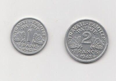 1Franc /2 Francs Frankreich   1943  (2238)