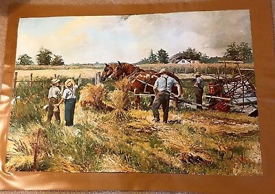 AUTHENTIC ARTAGRAPH OIL PAINTING PAUSE THAT REFRESHES KEIRSTEAD,SIGNED 127/1000 - $35.00