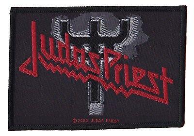 Judas Priest Trident Parche Oficial Escudo Licencia para Coser Heavy Metal
