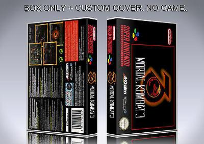 MORTAL KOMBAT 3. PAL VERSION. Box/Case. Super Nintendo. BOX + COVER. (NO GAME) ()