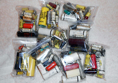 Electronic Component Parts Grab Bag Used Capacitor Mixed Lot