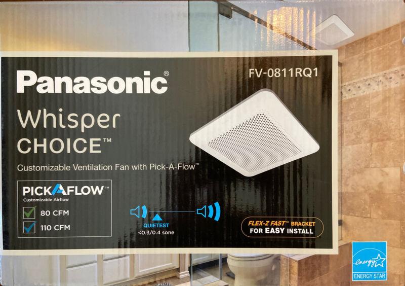 Panasonic WhisperChoice PickAFlow 80/110 CFM Exhaust Ventilation  Fan FV-0811RQ1