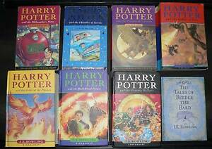 7x Harry Potter books plus Beedle the Bard by J K Rowling. Canning Vale Canning Area Preview