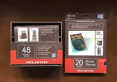 20 CD DVD Atlantic Media Living Transparent Color Movie Sleeves And Storage Box Atlantic Plastic Media Storage