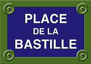 R plique plaque rue paris place de la bastille 20x30cm alu for Fenetre bastille