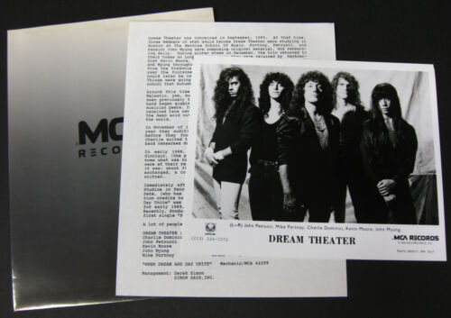 DREAM THEATER When Dream And Day Unite 1989 US Promo PRESS KIT Metal