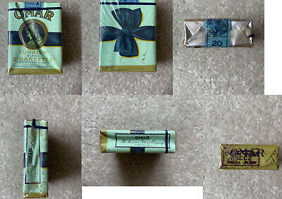 VINTAGE / COLLECTABLE 1959 OMAR CIGARETTE PACKET FREE SHIPPING