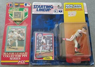 Roger Clemens Starting Lineup New 1994 Edition & ACE 1991 Major League Pin (Lineup Pins)
