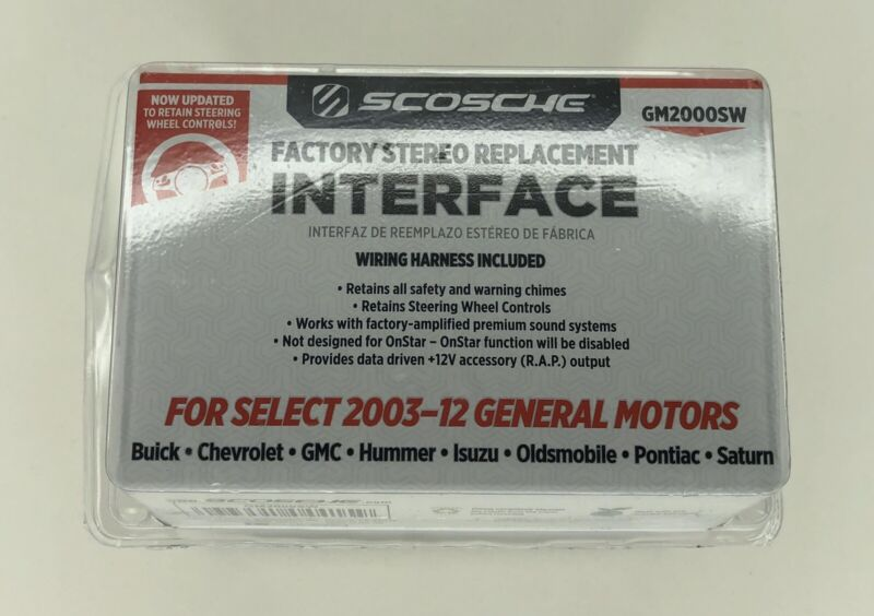 Scosche GM2000SW Factory Stereo Replacement Interface Kit 03-12 GM Wheel Control