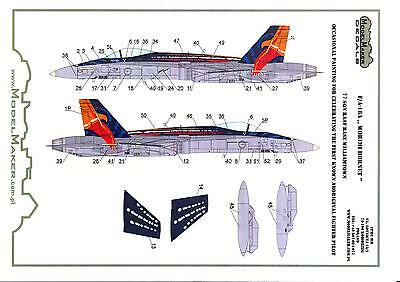 (Model Maker Decals 1/48 F/A-18A HORNET Royal Australian AF