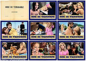 ORE-DI-TERRORE-SET-FOTOBUSTE-8-PZ-KARIN-SCHUBERT-THRILLER-ITA-1972-LOBBY-CARD