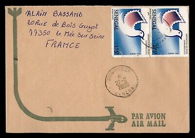 DR WHO 2000 SENEGAL ZIGUINCHOR AIRMAIL TO FRANCE  g16552