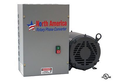 3hp Ul-listed Rotary Phase Converter - Ul-3 New Made In Usa Baldor Generator