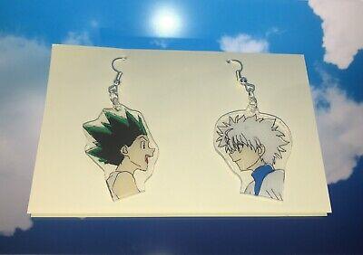Handmade Killua Gon Earrings HunterXHunter Anime Manga