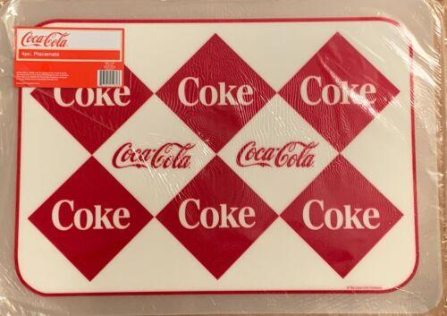 """Coke / Coca-cola Placemats ~ 4 Pack ~  13"""" X 18"""" ~ Vinyl"""