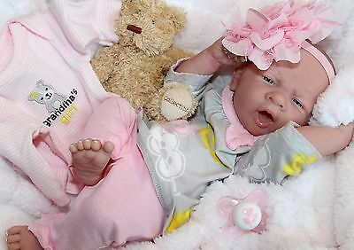 AWW! PERFECT BABY GIRL! Berenguer LifeLike Newborn Reborn Pacifier Doll +Extras