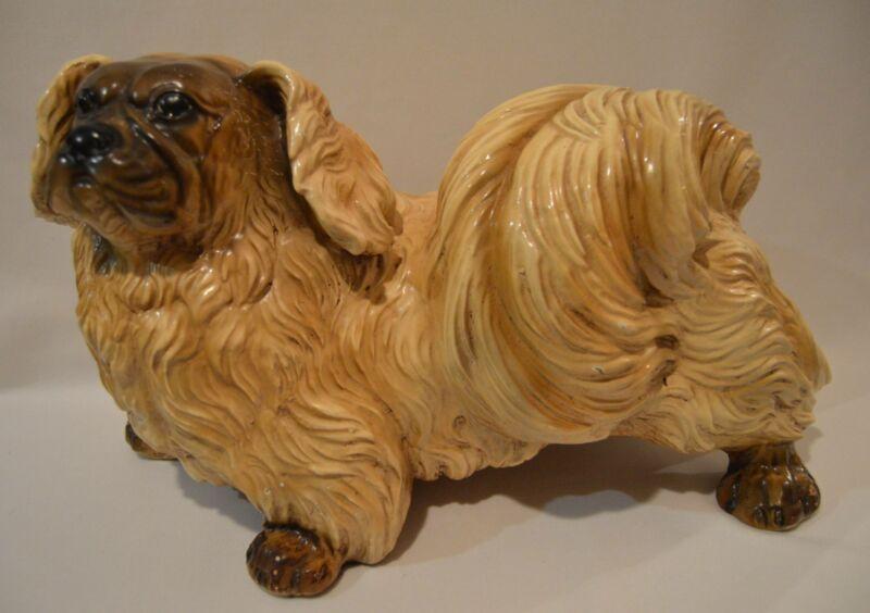 Vintage Large Marwal Pekingese Dog Statue Figurine