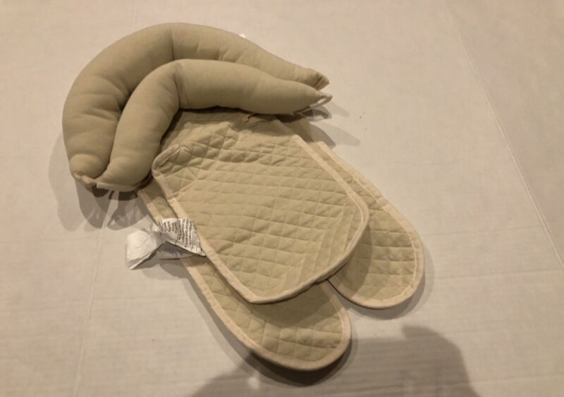"""Babies""""R""""Us Tan Car Seat Carrier Stroller Head Support Infant Quilted"""