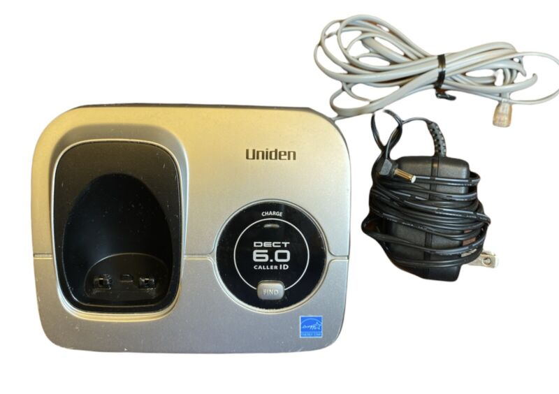 "Uniden ""Dect1560- 2"" Cordless Phone Base w/ Finder for D1680 -3 Handset Dect 6.0"