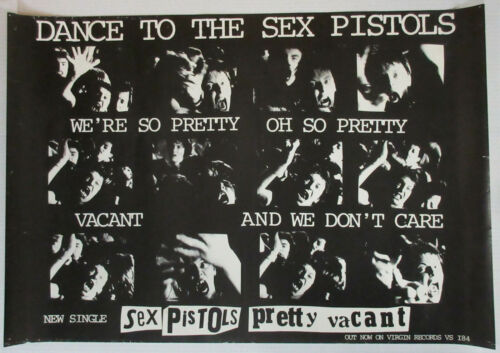 Dance To The SEX PISTOLS 1977 UK Virgin Records PROMO Only POSTER Pretty Vacant