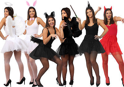 HALLOWEEN COSTUME SETS WOMENS LADIES CUTE SCARY TEENS UK 6-12 ONE SIZE ADULTS - Halloween Costume Sets