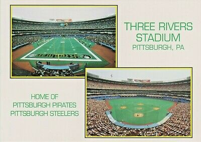 Pittsburgh PA Three Rivers Stadium, Home of Pirates Baseball & Steelers Football