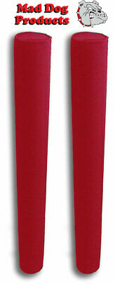 """Mad Dog Products RED 48"""" Capped Fade Proof Trailer Guide Pads with 2 3/8"""" I.D."""