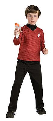 Star Trek DELUXE SCOTTY Engineer Costume Red Shirt Black PantS Child Medium 8 10