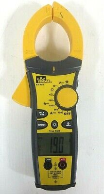 Ideal 61-774 Tightsight Digital Trms Clamp Meter Multimeter- Free Shipping
