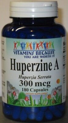 Huperzine A 300mcg 180 Capsules  Supports Memory Health 6 month supply!