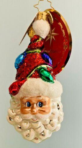 "CHRISTOPHER RADKO 5"" Ornament A LIGHT BULB MOMENT 1019366 Santa Claus Lights"