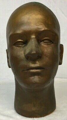 Vintage Foam Gold Painted Head Mannequin For Store Display