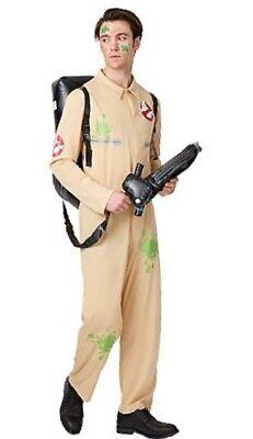 Adult Ghostbusters Halloween Fancy Dress Costume Green Slim Splash S-M-L-XL-XXL