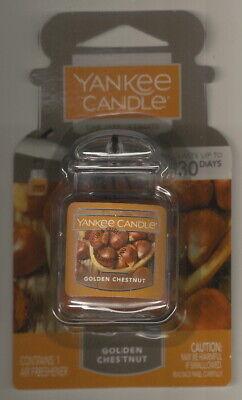 "2 -YANKEE CANDLE ""Golden Chestnut"" Car Jar Ultimate Air Fresheners!"