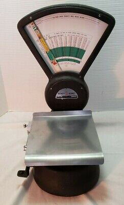 Vintage Pitney Bowes Mailroom Postage Postal Weight Scale Model S-510 Works Blac