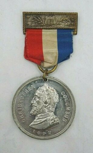 1892 COLUMBUS 400th Anniversary of the DISCOVERY Of AMERICA Medal (T1565)