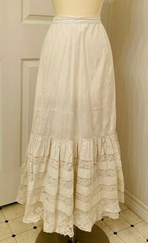 Antique Victorian petticoat with lace