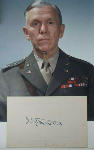 George C Marshall General, Secretary State, Chief Of Staff Autograph