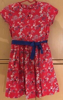 New Petit Bateau Girls Cotton Print Dress 10