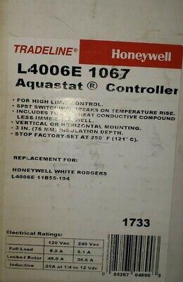 Honeywell L400e1067 - Aquastat Controller Spst Switching Nos