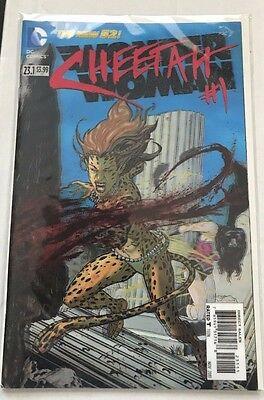 Cheetah 3D Cover Forever Evil Villain DC NEW 52 Wonder Woman #23.1 NM  - Comic Book Women Villains
