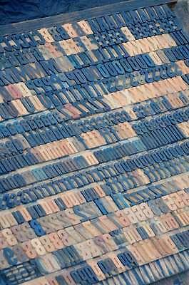 Letterpress Wood Printing Blocks 587pcs - 1.06 Tall Wooden Type Woodtype