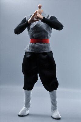 1:6th Anime Costume Seven Dragon Ball Sun Wukong Black Goku For HT MX2.0 Figure