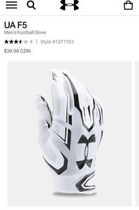 White and Grey F5 Under Armour Gloves