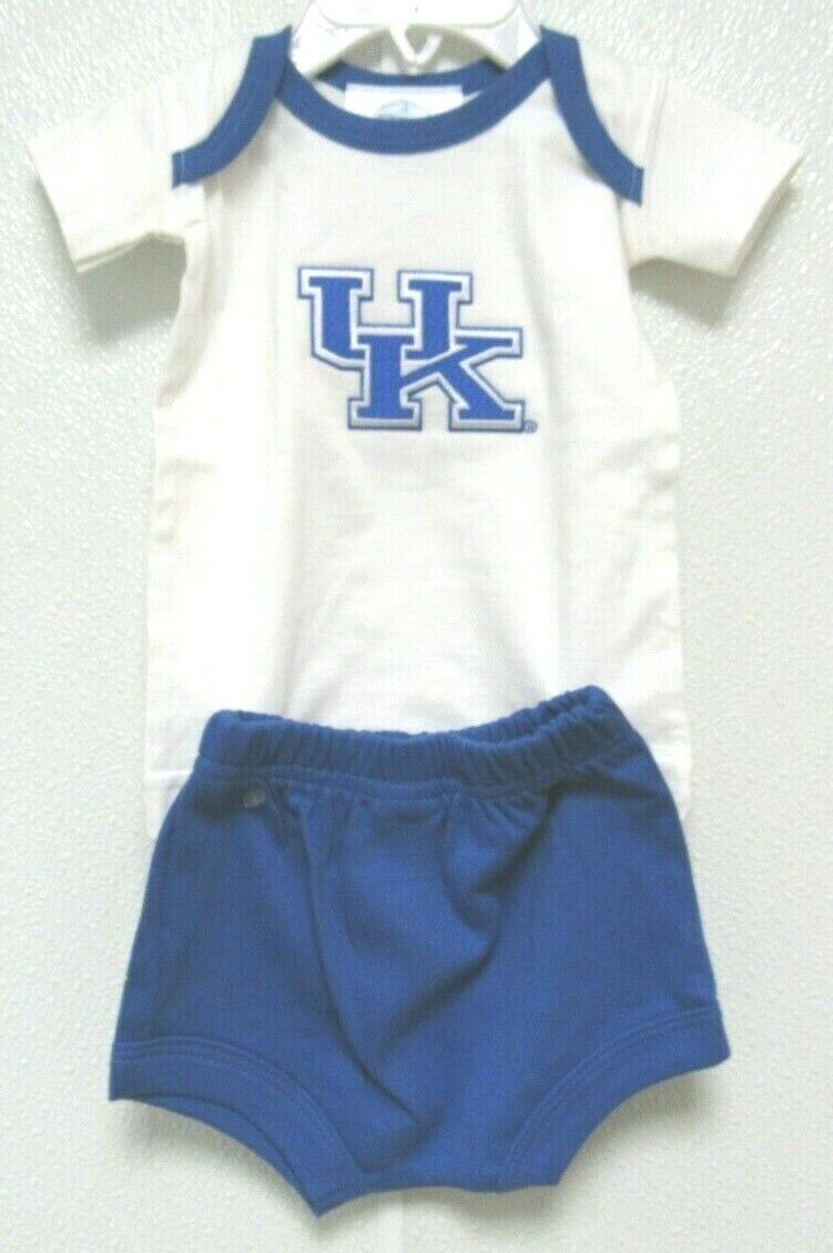 NCAA Kentucky Wildcats Blue KU Logo Diaper Set Two Feet Ahea