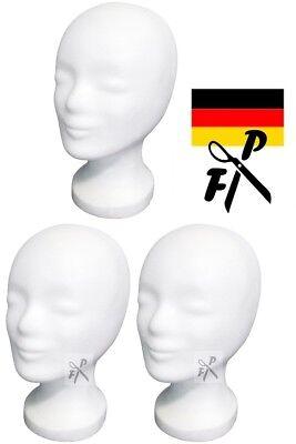 3 x FP Styroporkopf  AKTION - Perückenkopf  - TOP Markenqualität aus Deutschland