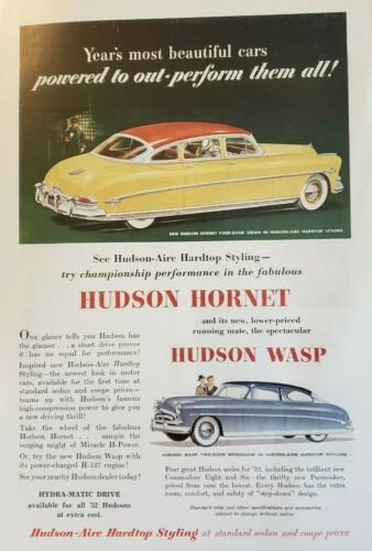 HUDSON CAR ADS  Two - Excellent Condition