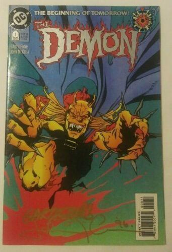 1) DEMON#0 signed by Garth Ennis writer & John McCrea artist ~ rare